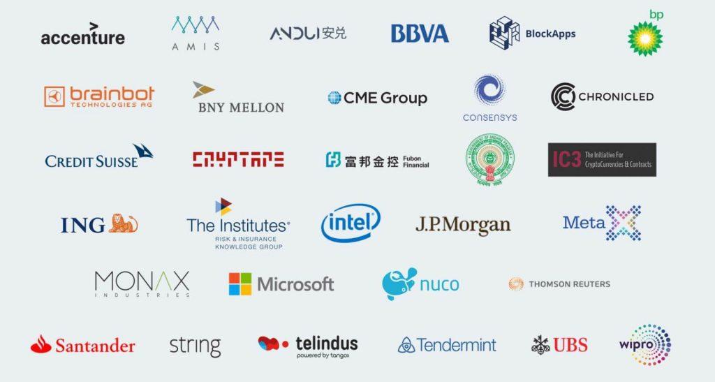 bedrijven ethereum